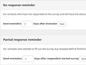 survey email reminders