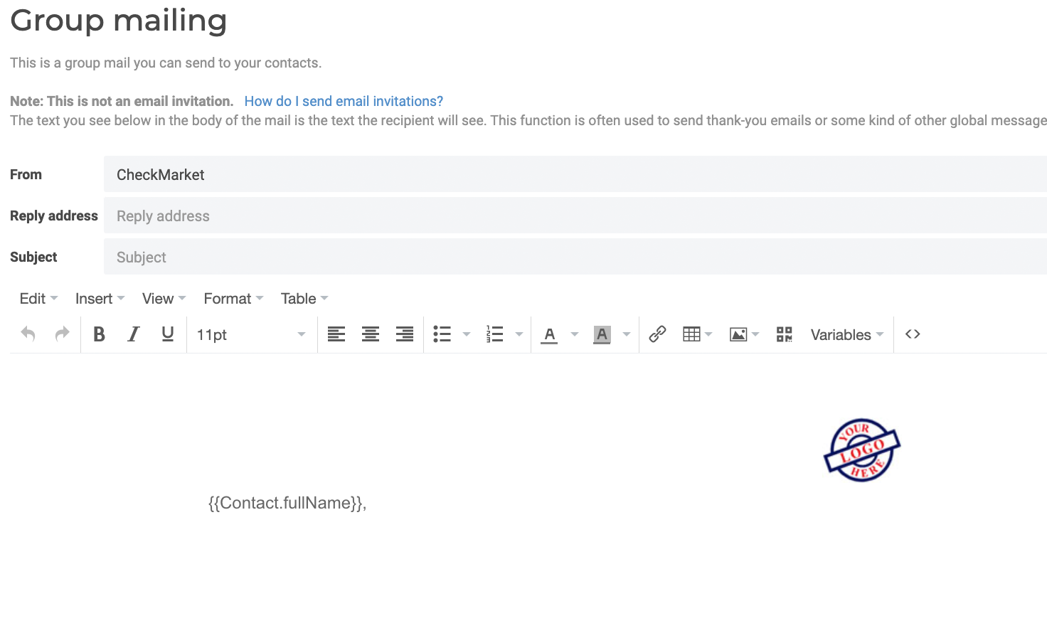 Group mailing email