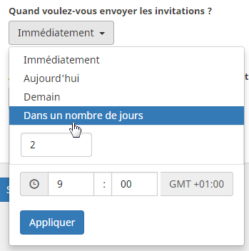 fixer date invitation en important