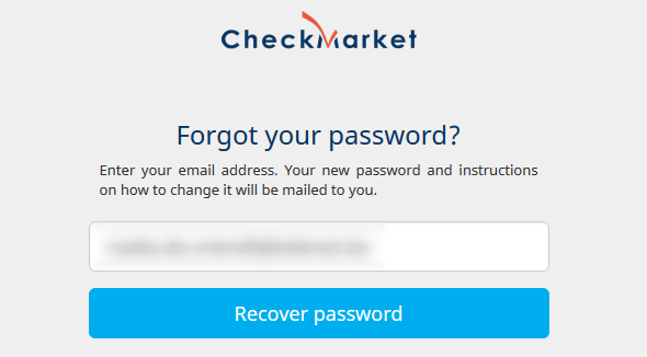 Recover your password