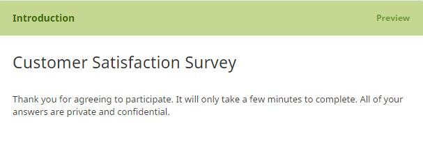 survey introduction