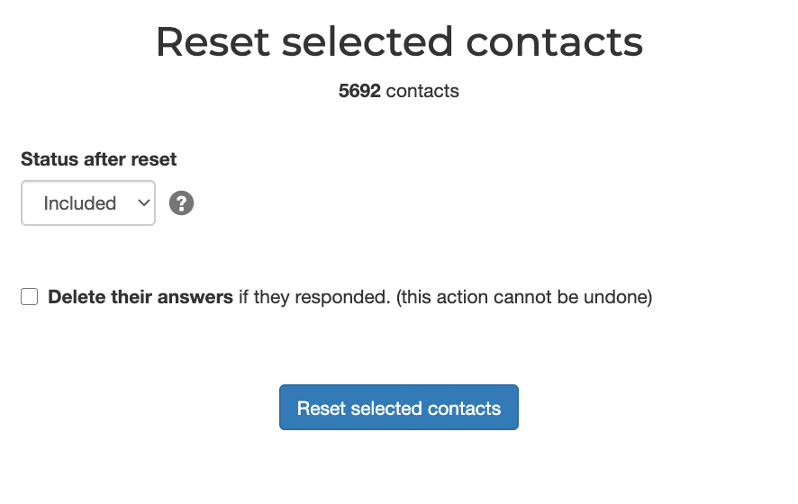 Reset contacts