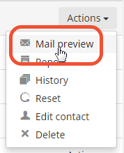 preview invitation as a contact