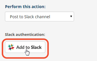 'Add to Slack' button to post feedback to Slack