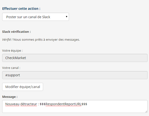 exemple notification feedback vers slack