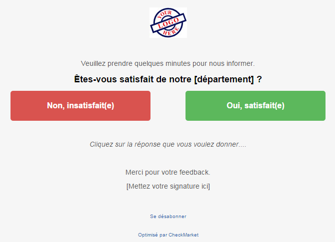 Incorporer une question dans l'invitation - exemple