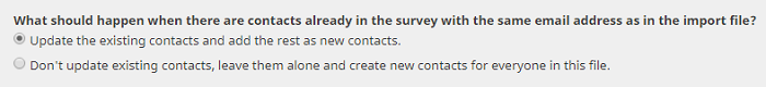 update existing contacts