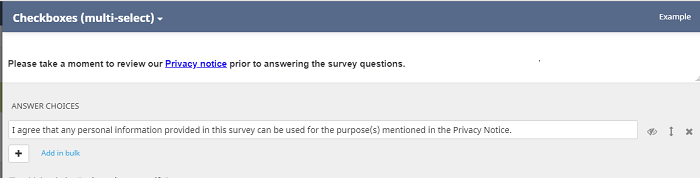 adding a consent question to your survey