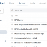 CheckMarket survey management