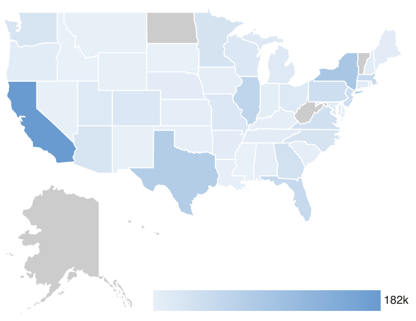 CheckMarket survey respondent location map - USA